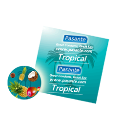 Pasante Tropical flavours smaak condooms - 3 smaak condooms