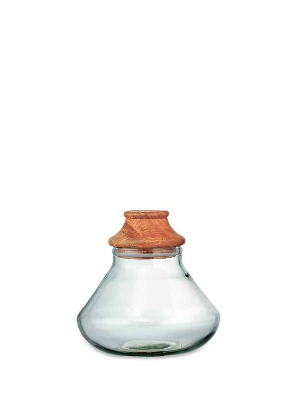 Akiko Small Glass Storage Jar