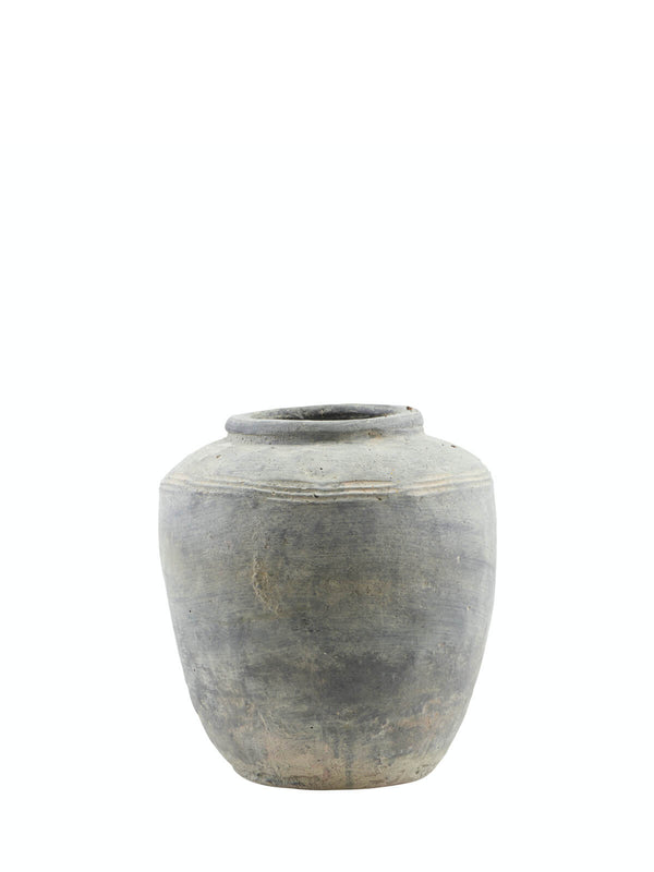 NEW: Coulman Charcoal Vase Large