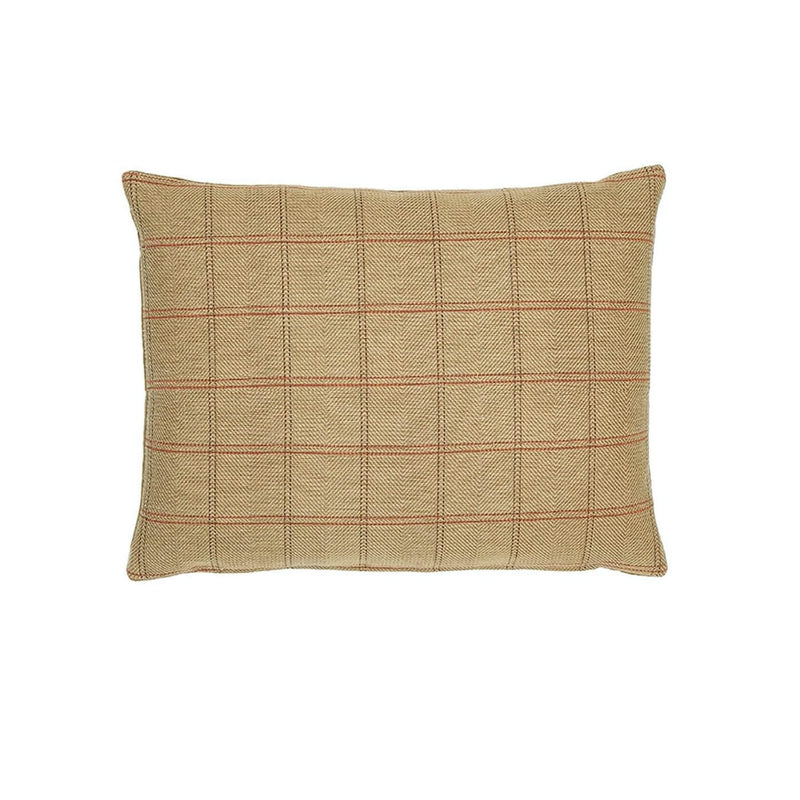 Country Plaid Tapestry Oblong Cushion