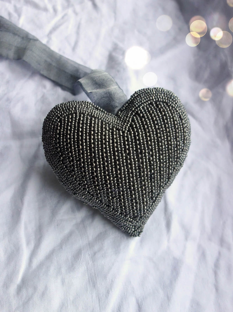 Large Beaded Heart