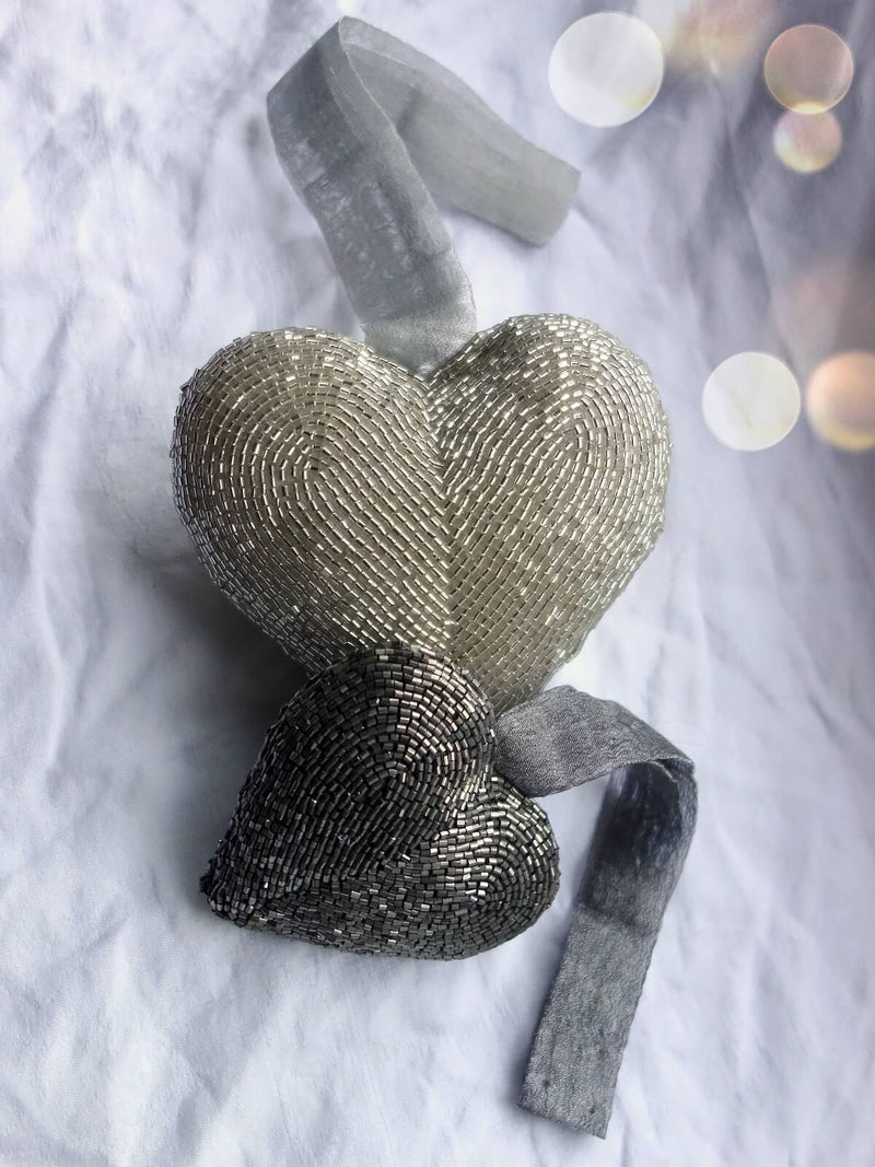 Medium Beaded Heart
