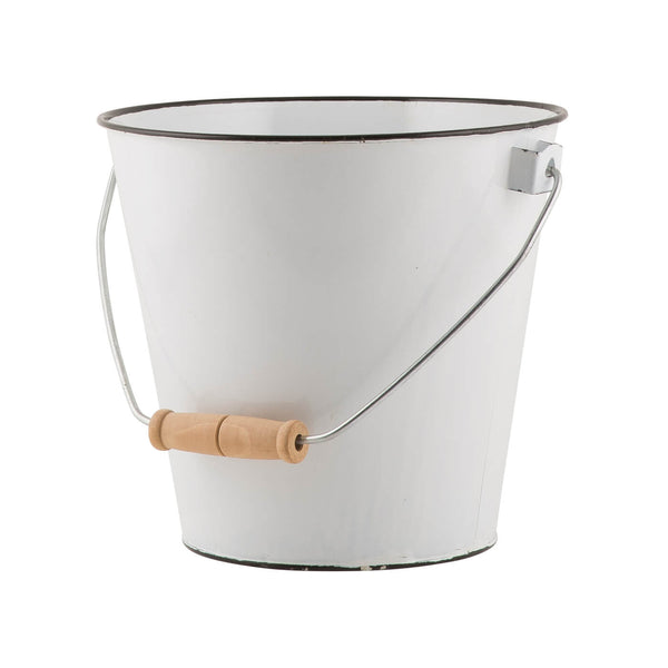 Emie White Enamel Bucket