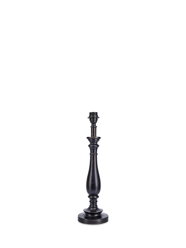 Eques Black Mango Wood Lamp Base