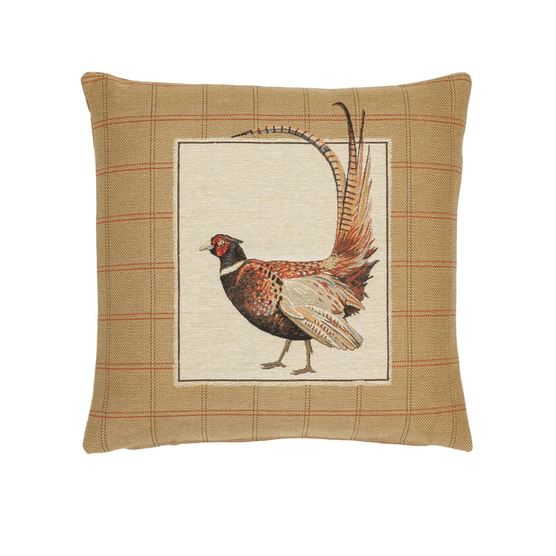 Fantail Pheasant Right Tapestry Cushion