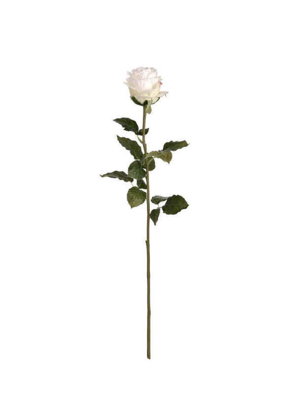 Large Traditional White Rose Bud