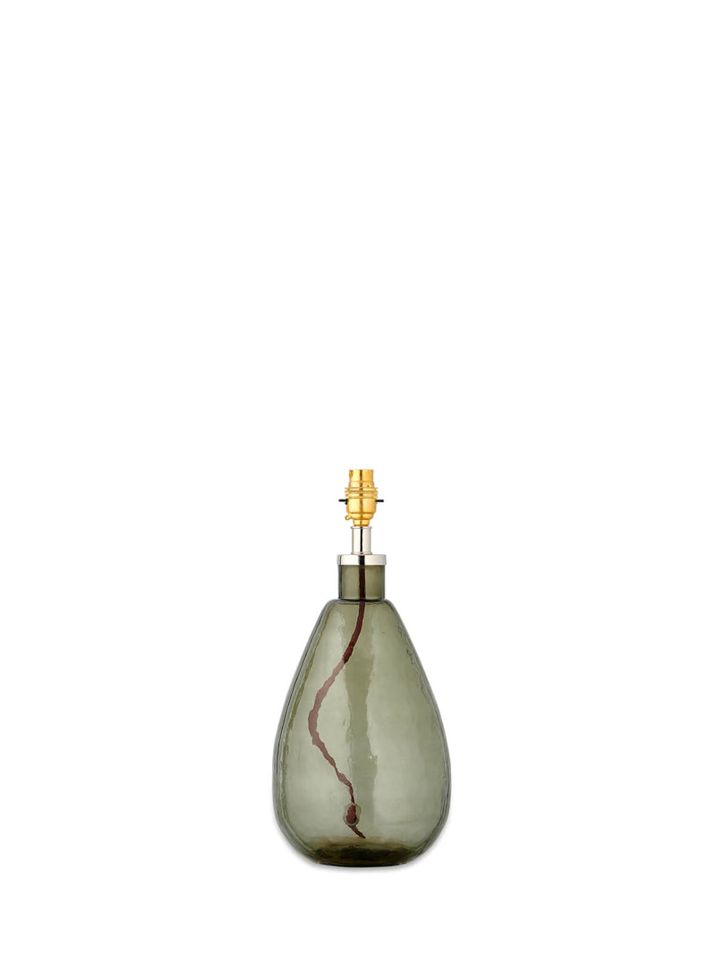 Kensington Tall Smoke Glass Lamp Base
