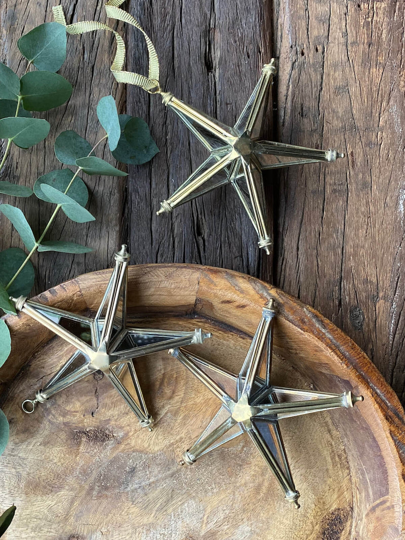 Mirrored Brass Star