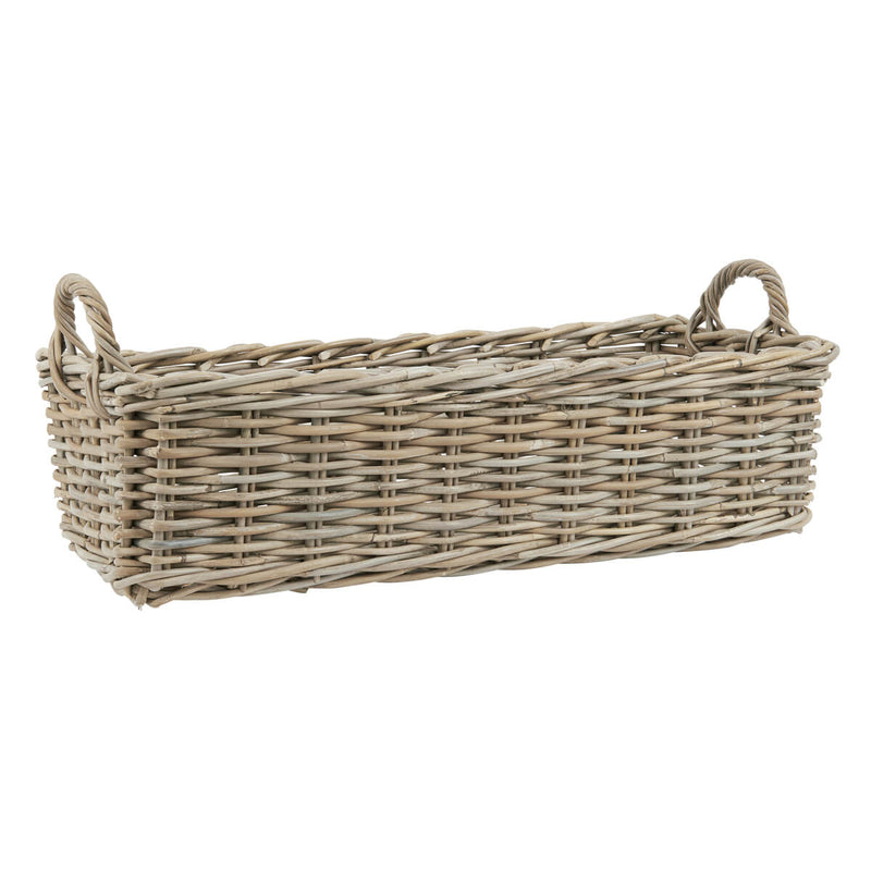 Crofter Natural Wicker Oblong Basket Large