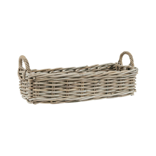 Crofter Natural Wicker Oblong Basket Small