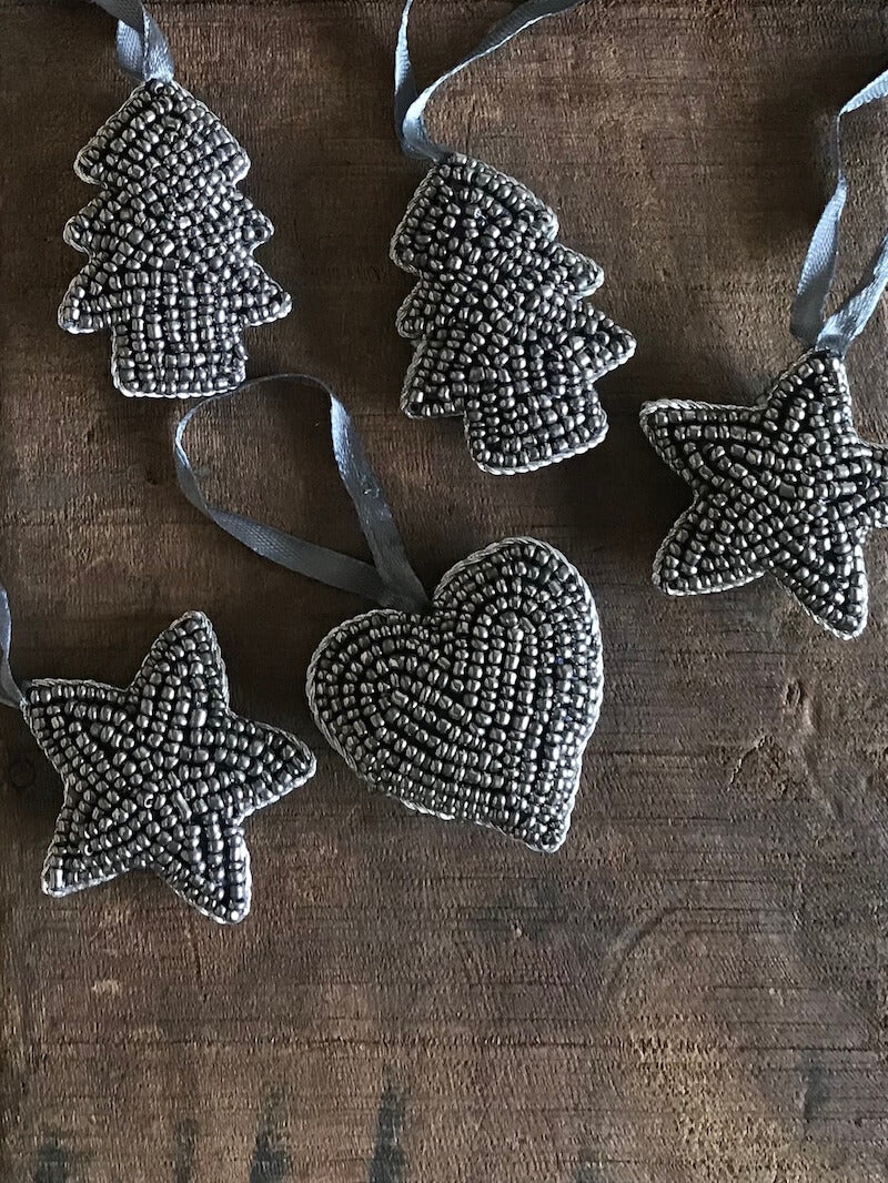 Small Beaded Hanging Decoration (Assorted Pack Of 5)
