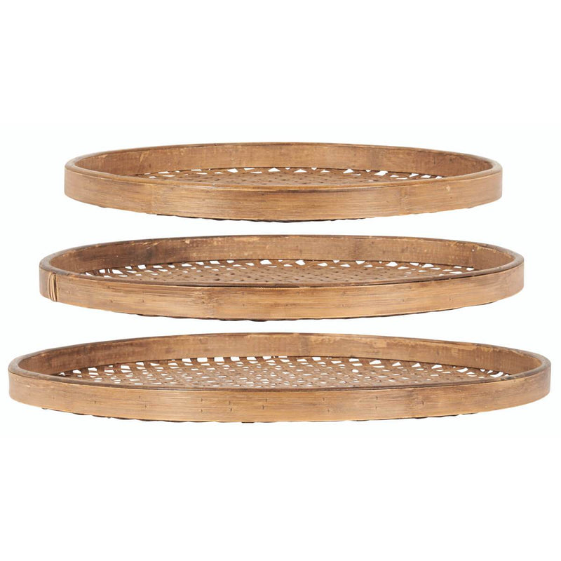 Swiska Medium Slatted Bamboo Tray