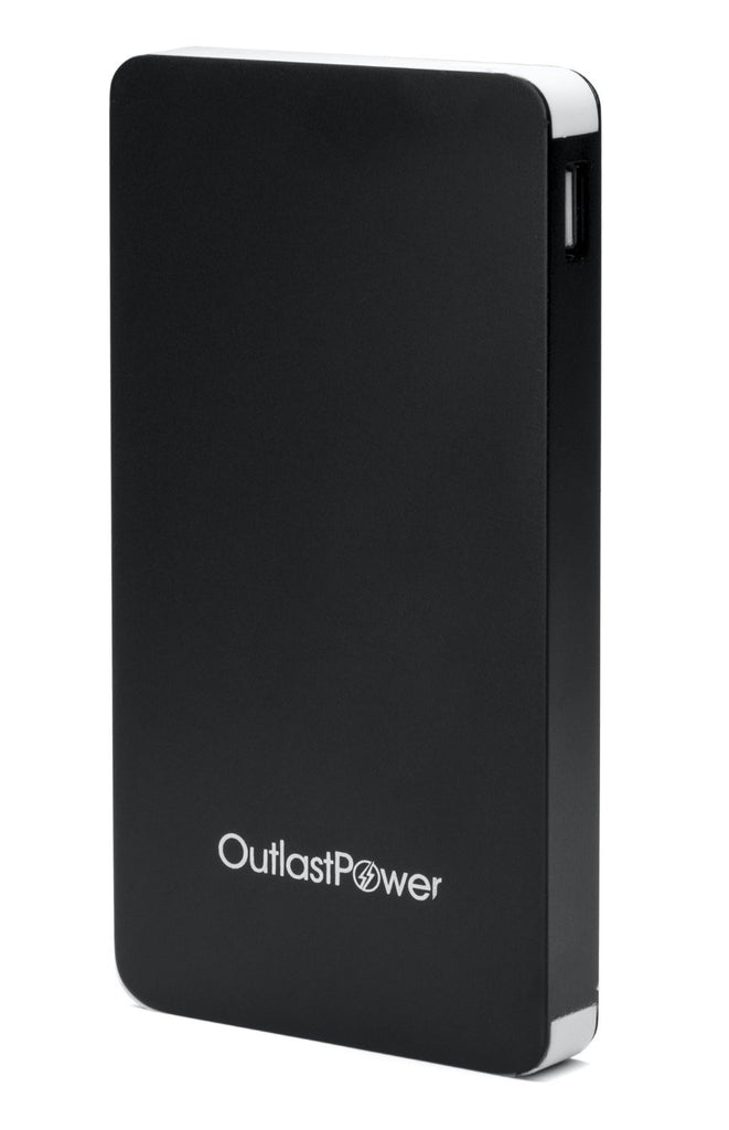 Outlast Power External Battery Pack Compatible with All Mobile Devices 15000 mAh (Black)