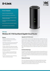 D-Link Wireless AC Smart Beam 1750 Mbps Home Cloud App-Enabled Dual-Band Gigabit Router (DIR-866L)