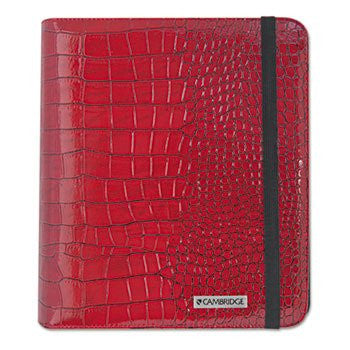 Mead Red Leather Business Notebook and iPad Case