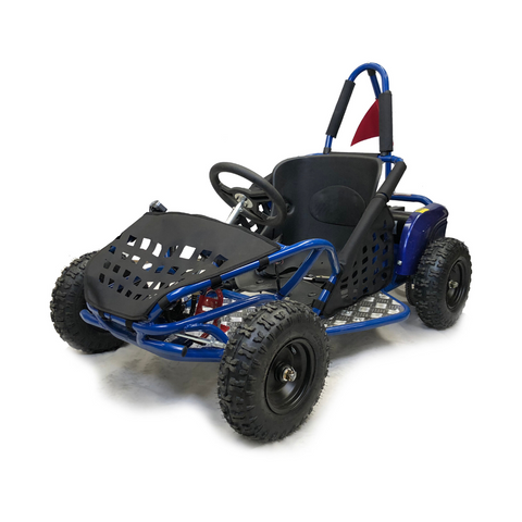 Storm Buggies - 1000w Kids Electric Go Kart - Blue