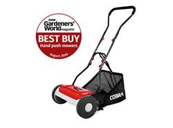 "Cobra HM381 CYLINDER 15"" HAND LAWNMOWER AND GRASS COLLECTOR"