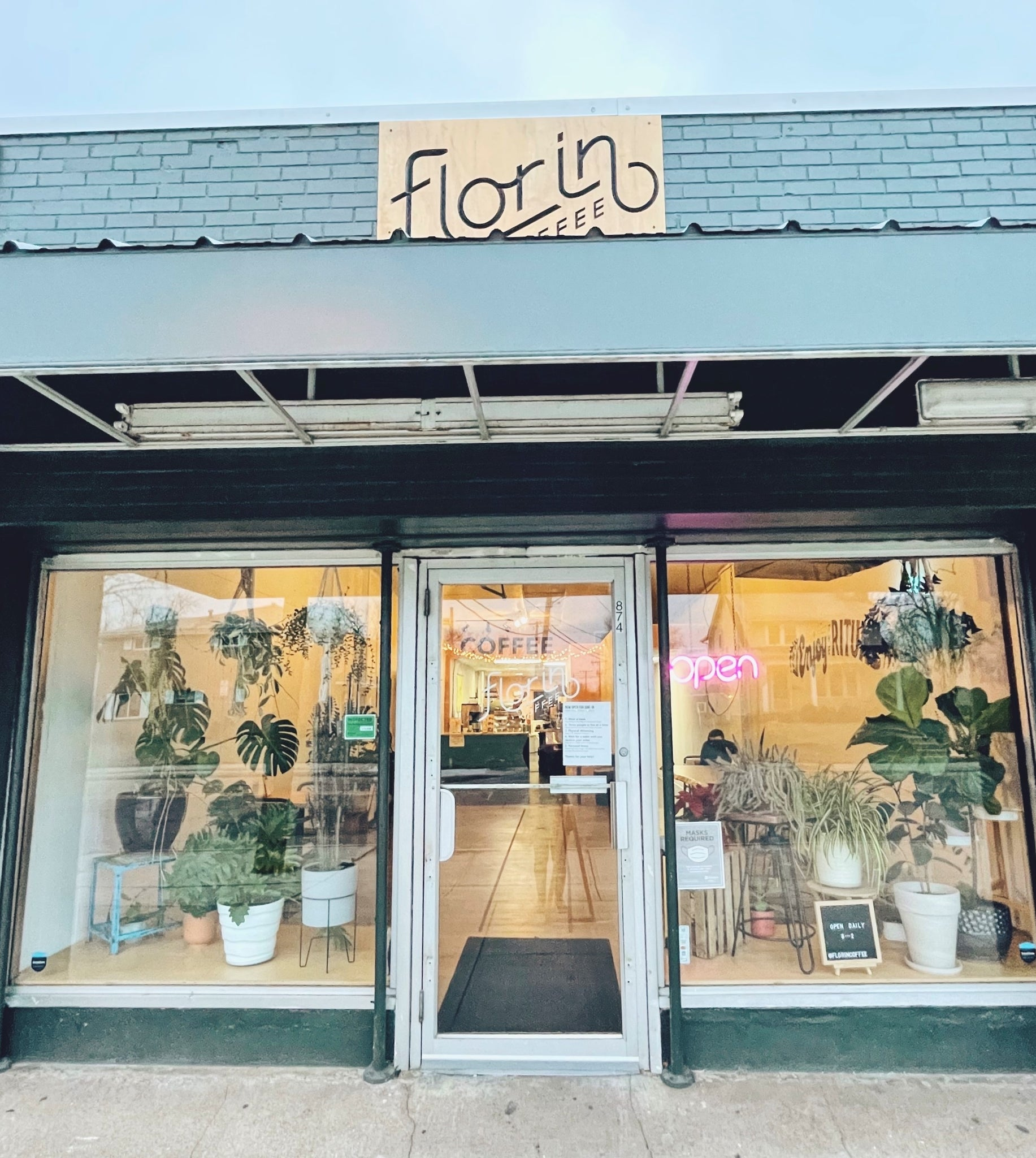 Places we Love that Love Plants: Florin Coffee, North Linden