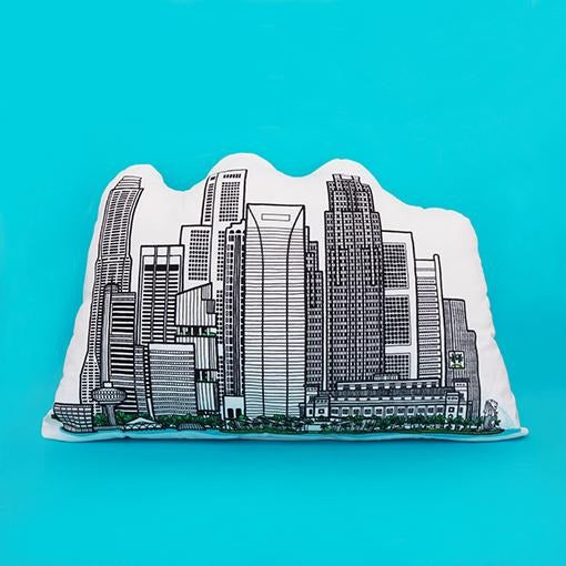 SINGAPORE SKYLINE CUSHION - CENTRAL BUSINESS DISTRICT - THE FARM STORE - Singapulah-sg