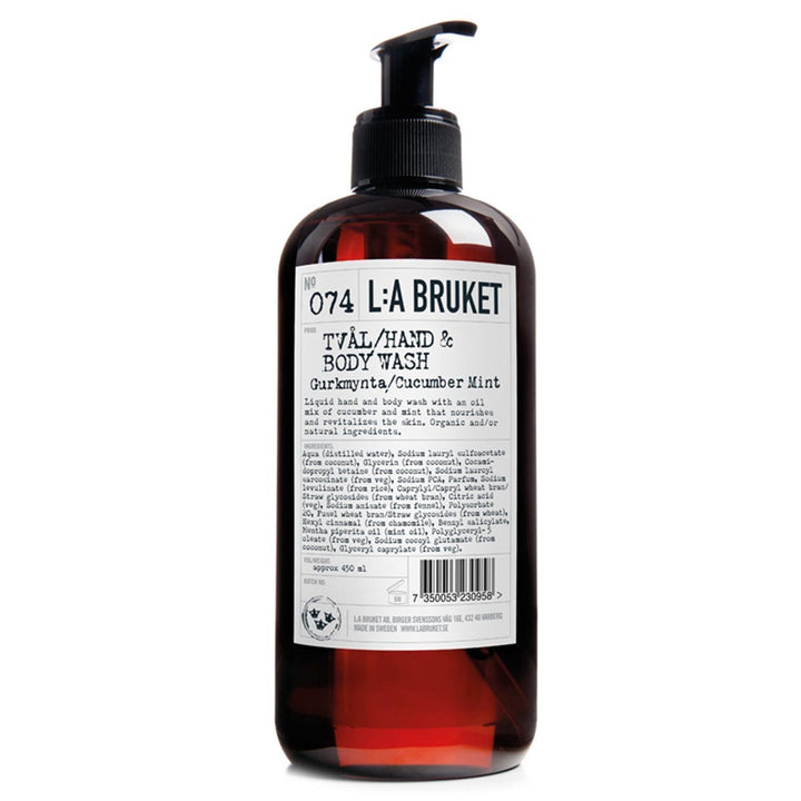 L:A Bruket - 074 Liquid Soap Cucumber/Mint - escentials.com