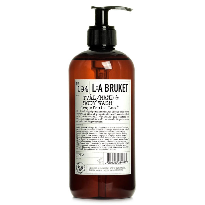 L:A Bruket - 194 Liquid Soap grapefruit Leaf - escentials.com