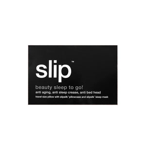 Slip - Beauty Sleep To Go! Black Travel Set - escentials.com