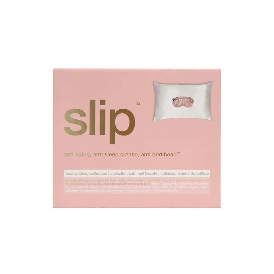 Slip - Beauty Sleep Collection - White + Pink - escentials.com