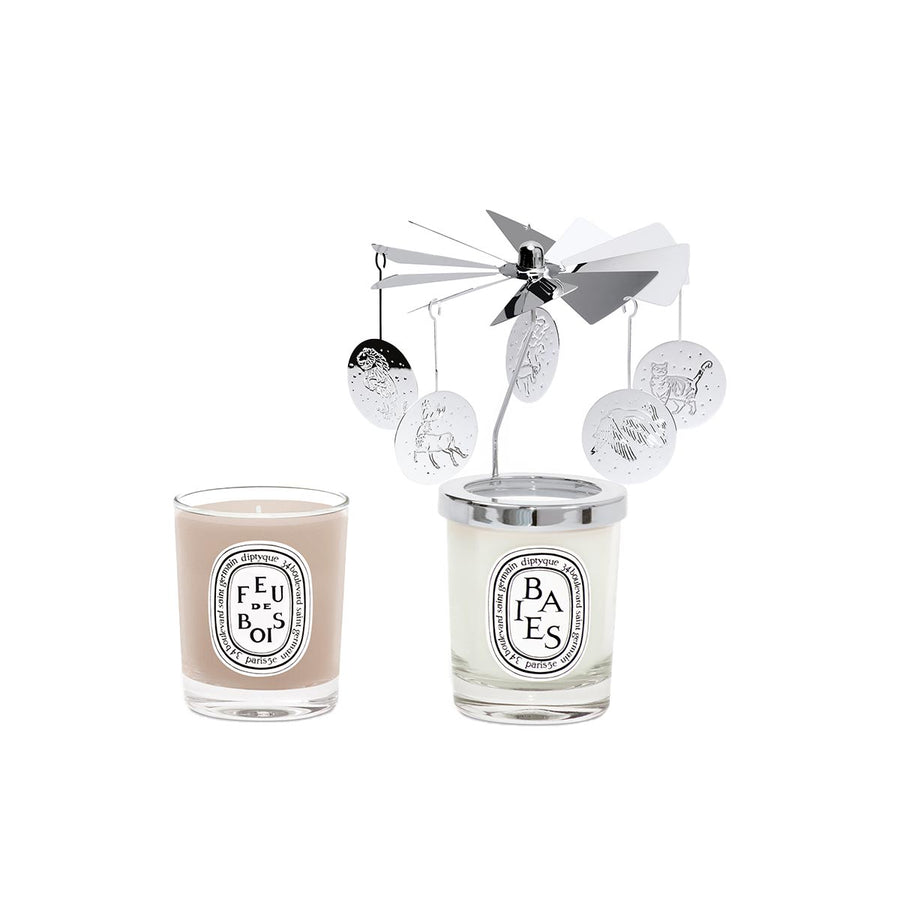 diptyque - Carousel Set with Baies and Feu De Bois Mini Candle - escentials.com