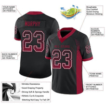 Load image into Gallery viewer, Custom Black Cardinal-White Mesh Drift Fashion Football Jersey