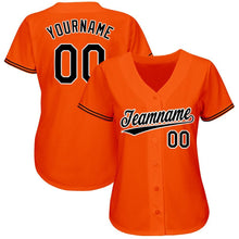 Load image into Gallery viewer, Custom Orange Black-White Baseball Jersey