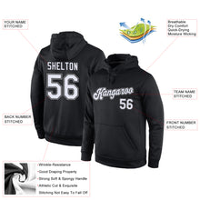 Load image into Gallery viewer, Custom Stitched Black White-Gray Sports Pullover Sweatshirt Hoodie