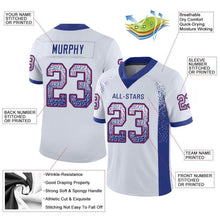 Load image into Gallery viewer, Custom White Royal-Red Mesh Drift Fashion Football Jersey