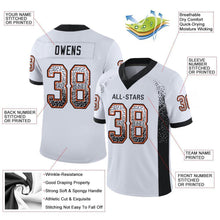 Load image into Gallery viewer, Custom White Black-Orange Mesh Drift Fashion Football Jersey