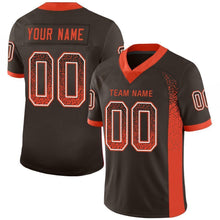 Load image into Gallery viewer, Custom Brown Orange-White Mesh Drift Fashion Football Jersey