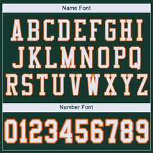 Load image into Gallery viewer, Custom Green White-Orange Mesh Authentic Football Jersey