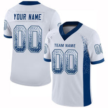 Load image into Gallery viewer, Custom White Royal Mesh Drift Fashion Football Jersey