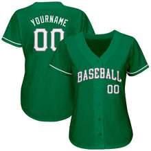 Load image into Gallery viewer, Custom Kelly Green White-Gray Authentic St. Patrick's Day Baseball Jersey