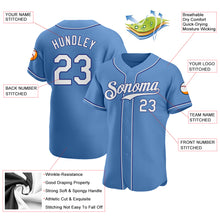 Load image into Gallery viewer, Custom Light Blue White-Royal Authentic Baseball Jersey