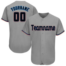 Load image into Gallery viewer, Custom Gray Black-Orange Baseball Jersey
