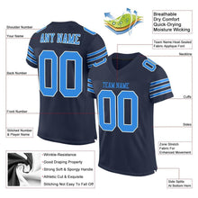 Load image into Gallery viewer, Custom Navy Powder Blue-White Mesh Authentic Football Jersey