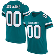 Load image into Gallery viewer, Custom Teal White-Black Mesh Authentic Football Jersey