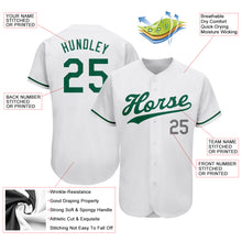 Load image into Gallery viewer, Custom White Kelly Green-Gray Authentic St. Patrick's Day Baseball Jersey