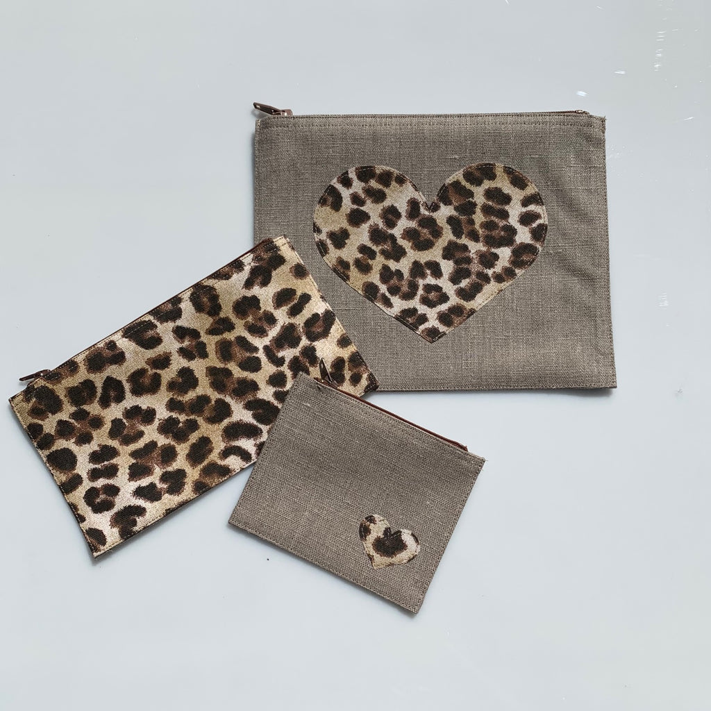 Leopard print - Set of 3 pouches