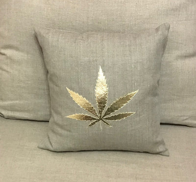 Marijuana Leaf - Gold