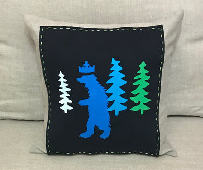 BLUE BEAR on BLACK