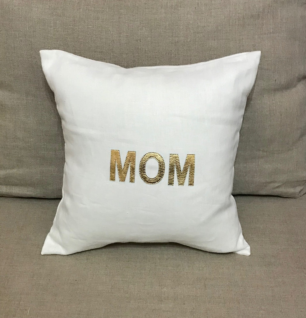 MOM - Gold on White