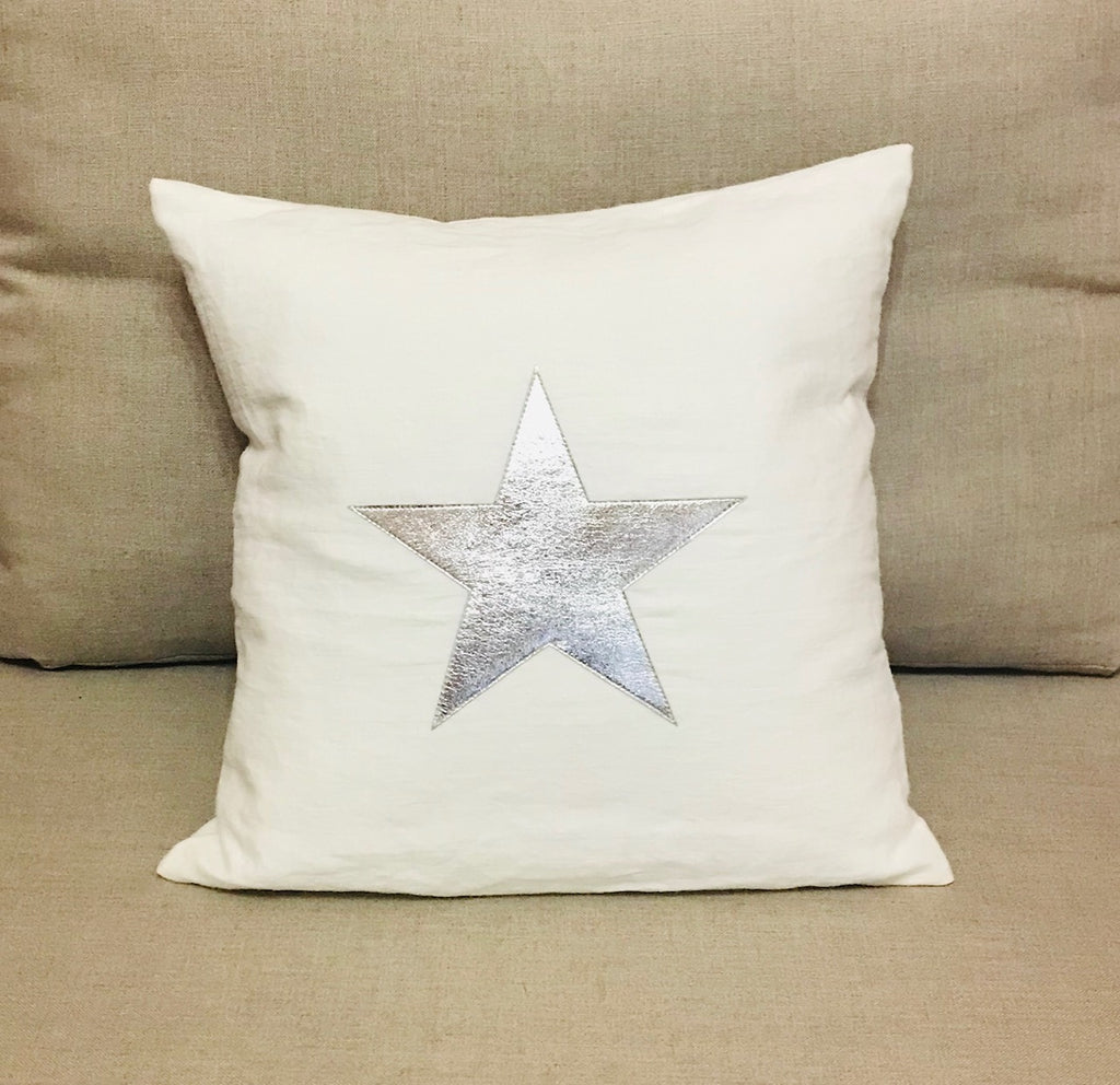 Star - Silver on White