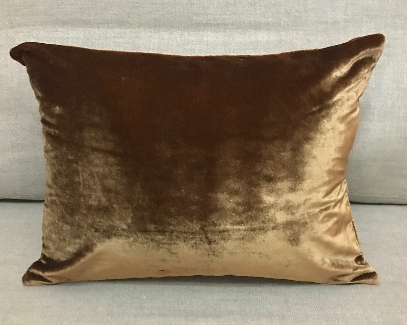 Crushed dark gold velvet
