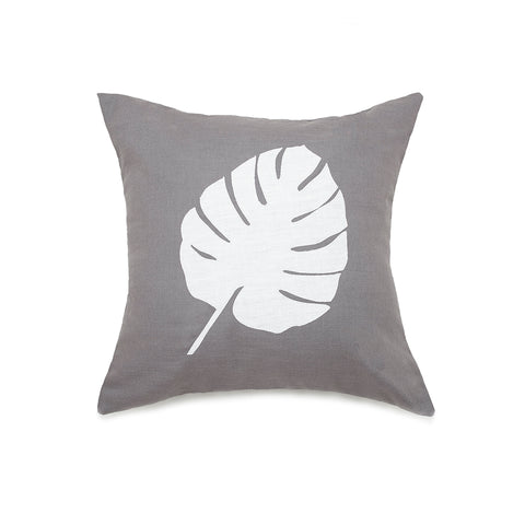 Palm leaf - White on Lilac