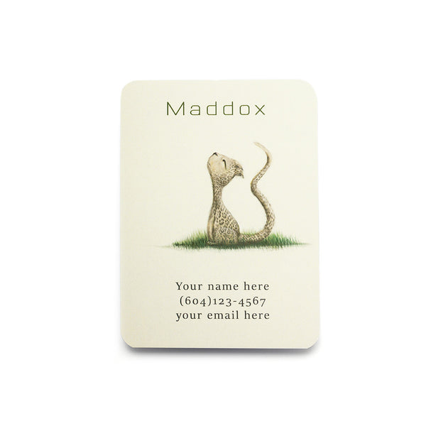 Cheetah Play Date Card